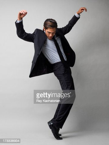 Man standing on toes