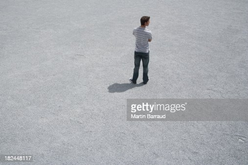 Man standing outdoors  : Stock Photo