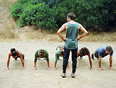 Bootcamp exercises, Malibu Creek State Park, Calabasas, California, USA