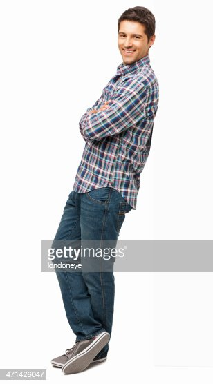 Man Standing With Arms Crossed - Isolated