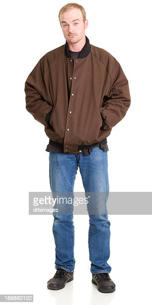 Man Standing With Hands In Jacket