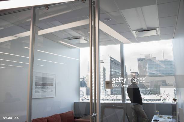 A man stands in an office at Alexandria LaunchLabs in the Alexandria Center For Life Science in New York US on Thursday Aug 3 2017 Alexandria...