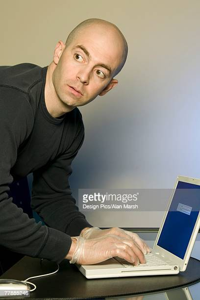 Man Stealing Information