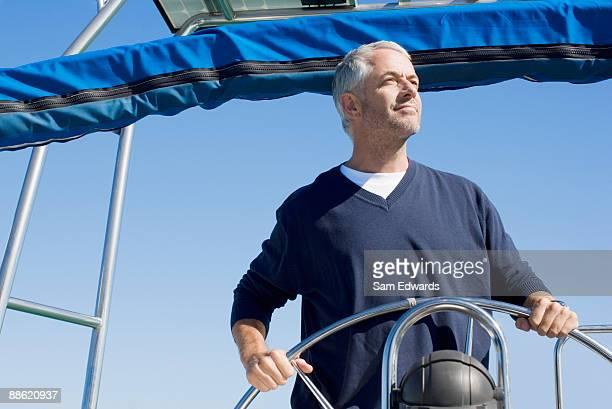 Mann Lenkung Boot