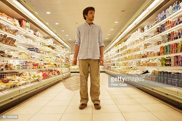 Man stood in supermarket