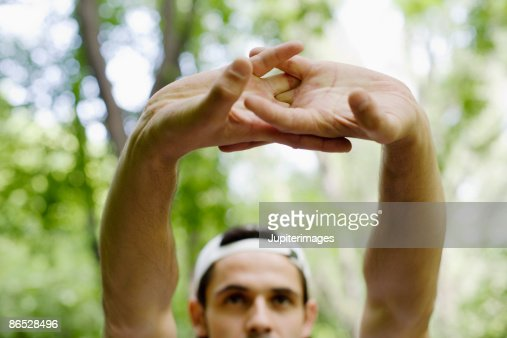Man stretching : Stock Photo