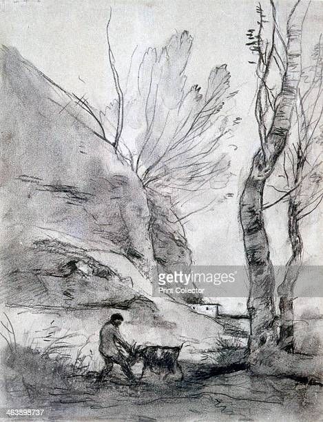 'Man Struggling with a Goat' c18161875
