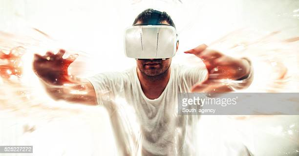 Man stuck in virtual world