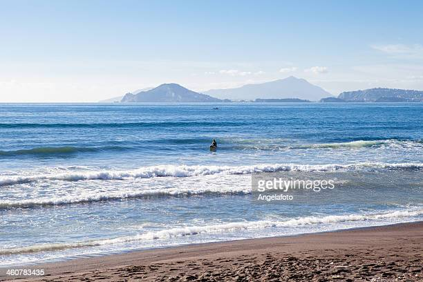 Man Surfing, Bay of Naples, Italy