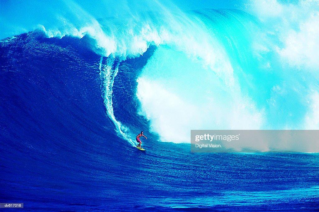 Man Surfing : Stock Photo