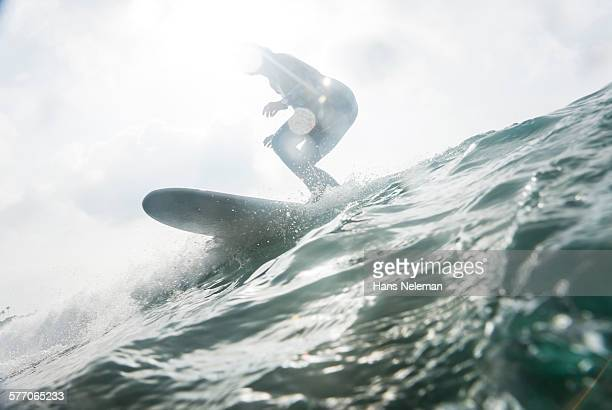 Man Surfing Small Wave