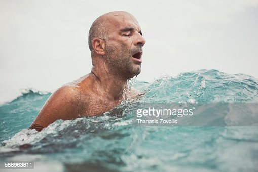 Man swimming