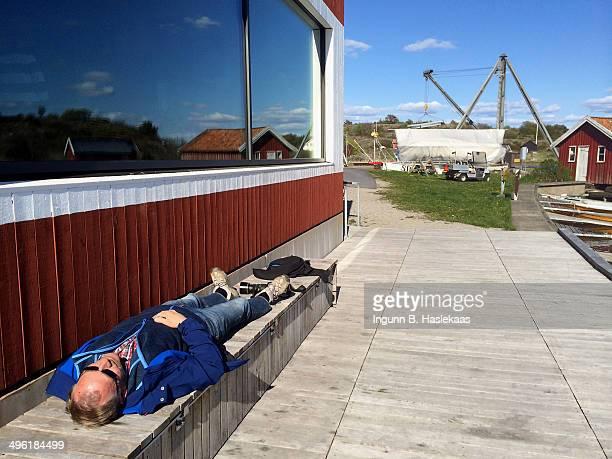 Man taking a little nap
