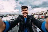 Man taking a selfie in Istanbul