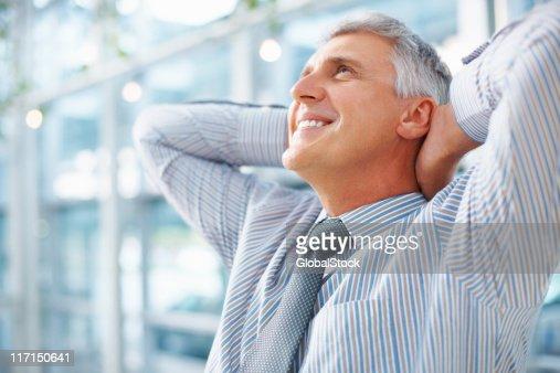 Man taking break after work : Stock Photo