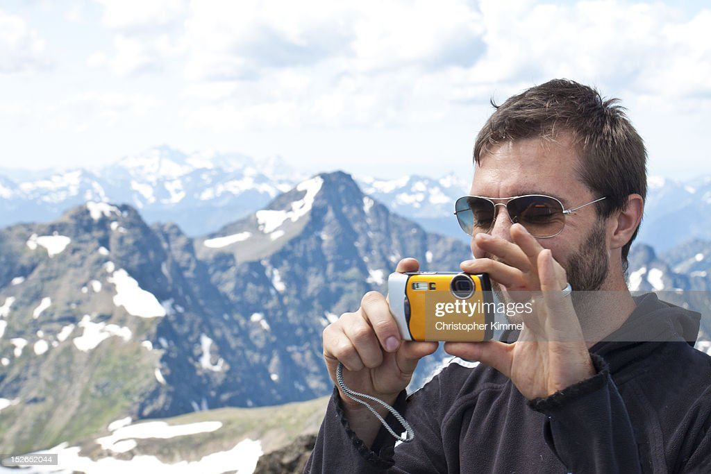 Man taking Picture : Stock Photo