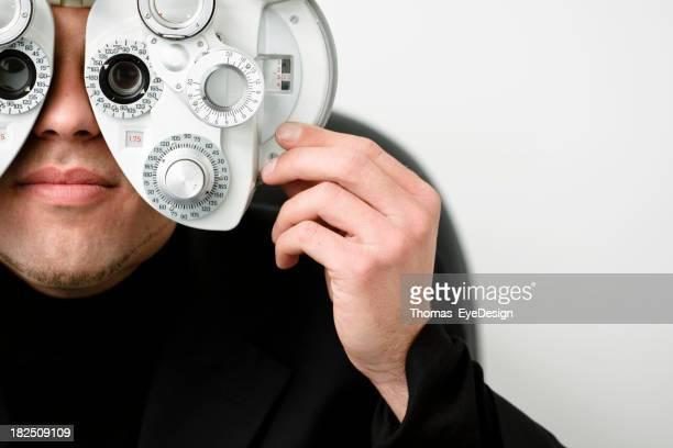 Man Taking Vision Test