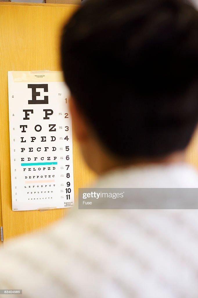 Man Taking Vision Text : Stock Photo