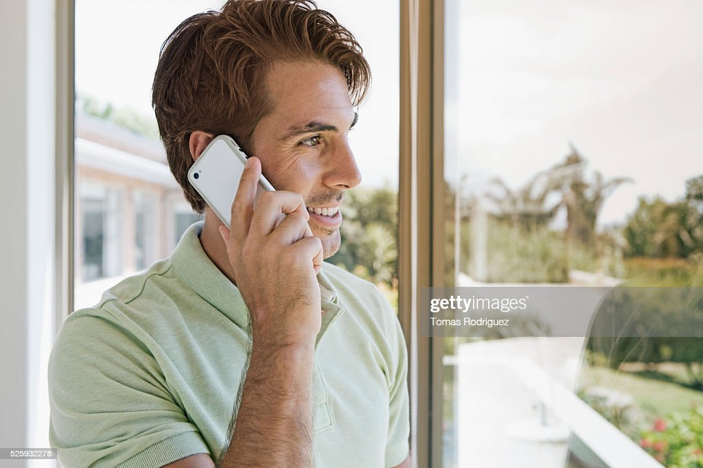 Man talking on phone : Stock Photo