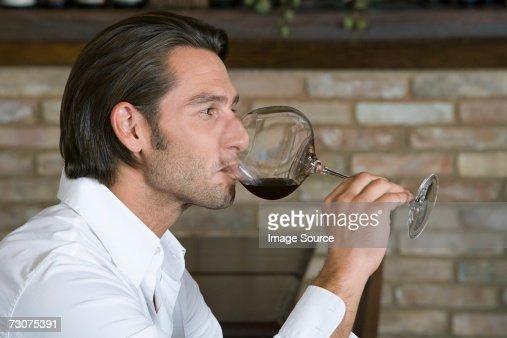 Man tasting wine : Stock Photo