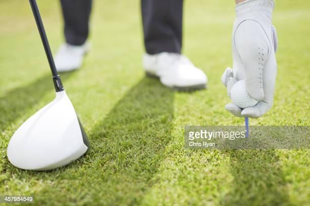 ゴルフボールをプレーするコース