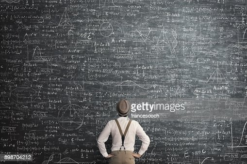 man think how to solve the problem : Stock Photo