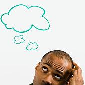 Man Thinking of Idea