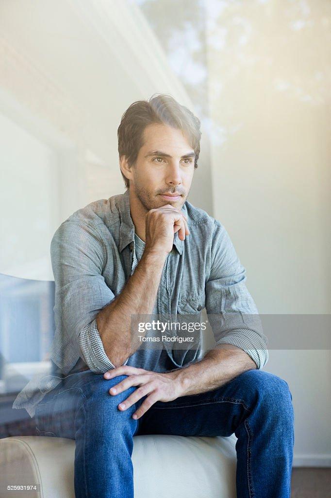 Man thinking : Stock-Foto