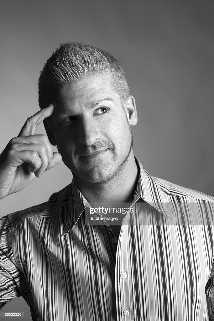 Man thinking : Stock Photo