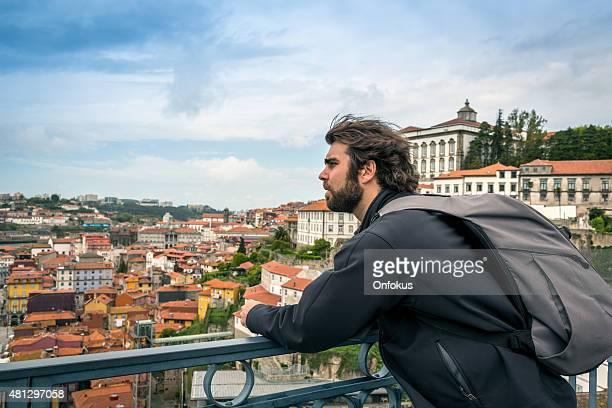 Man Tourist in Porto, Portugal