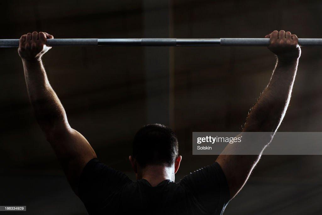 Man training in Gym gym