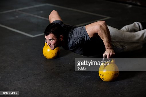 Man training in Gym gym : Stock Photo