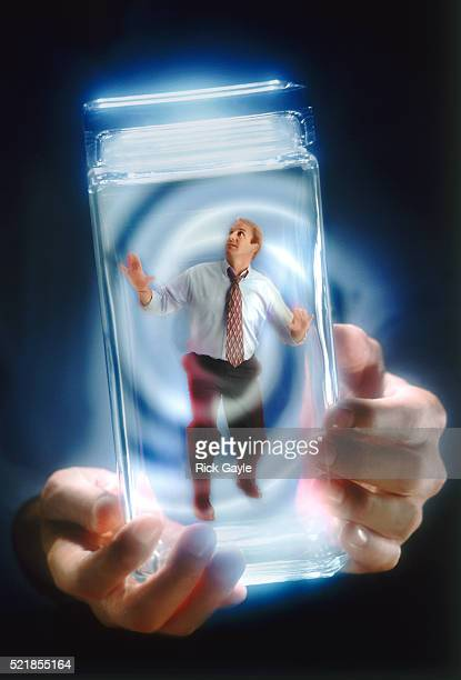 Man trapped in a jar