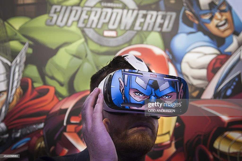 A man tries out the Samsung Gear VR a virtual reality device at an event in Berlin on September 3 in advance of the consumer electronics trade fair...