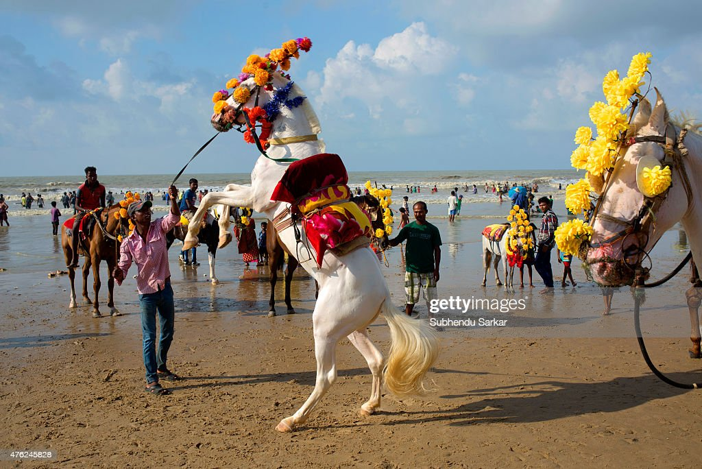 A man tries to control a horse at Digha sea beach Digha in East Midnapore district of West Bengal is a seaside resort town about 187 kms from Kolkata...