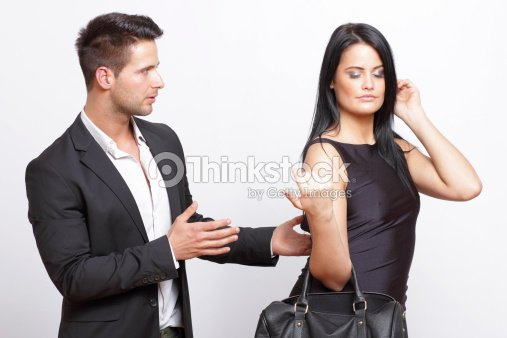 Man Trying To Flirt With A Woman Stock Photo - Thinkstock