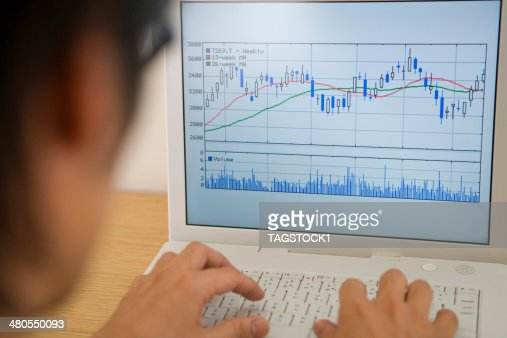Man typing keyboard of PC : Stock Photo