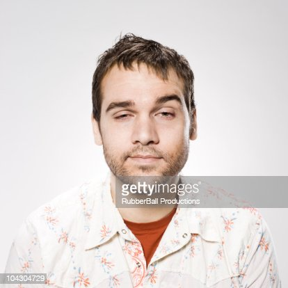 man unshaven : Stock Photo