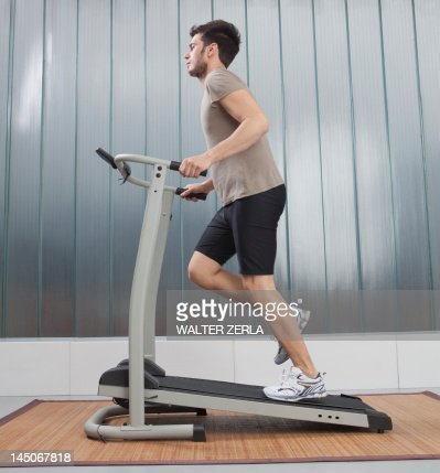 Man using exercise machine