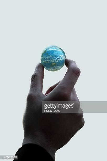 Man using Globe
