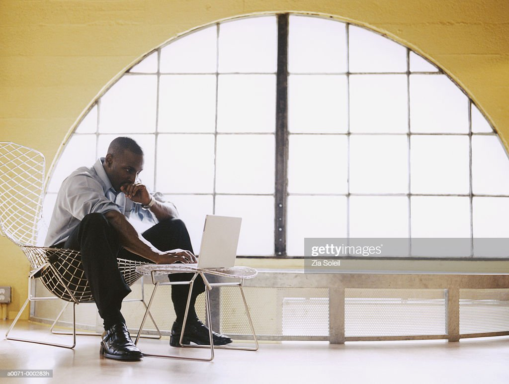 Man Using Laptop : Stock Photo