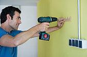 Man using power drill