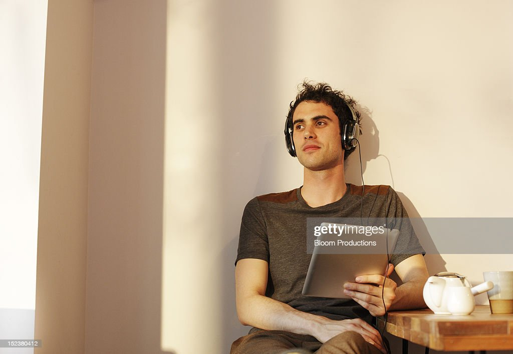 man using technlogy : Stock Photo