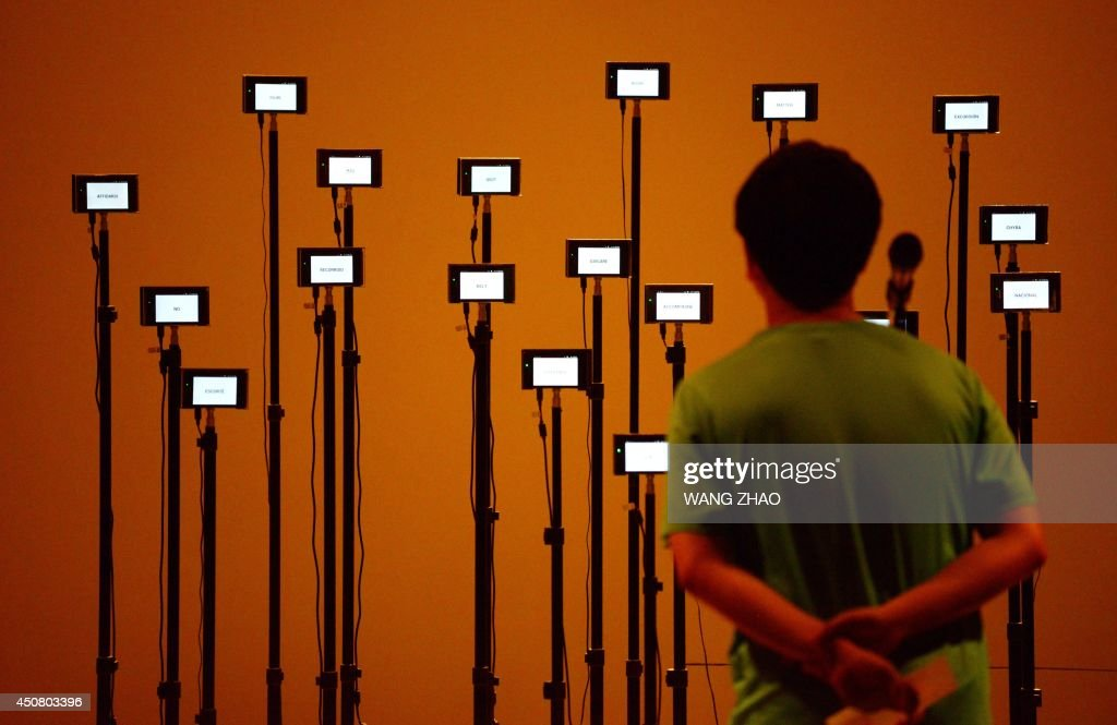 A man visits an exhibition at the China National art museum in Beijing on June 18, 2014. China's new breed of art collectors have propelled Beijing, and to a lesser extent Shanghai, to the forefront of the art scene, with Chinese works of art regularly breaking records at auction.