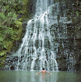 Karekare Falls, North Islands, New Zealand