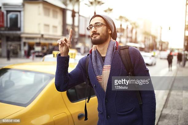 Man Waiting Taxi