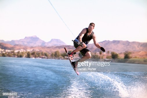 Man wakeboarding : Stock Photo