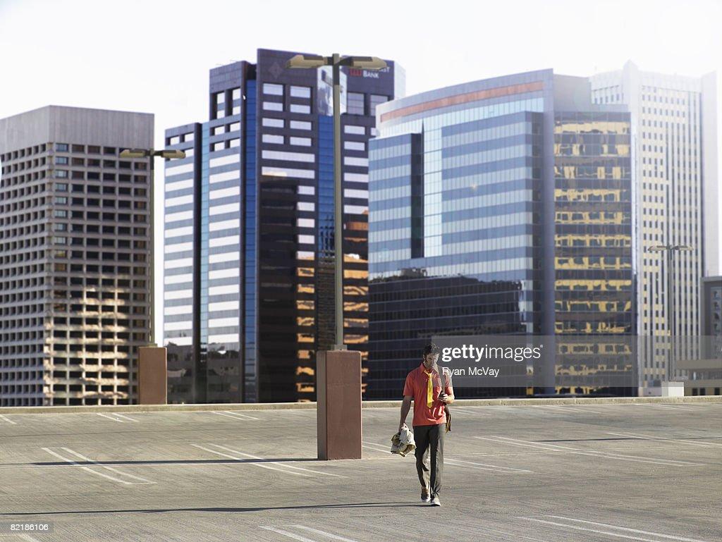 man walking alone : Stock Photo