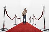 Man Walking Down Red Carpet