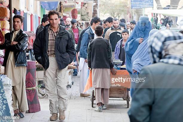Man walking in downtown Kabul